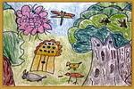 蝴蝶群儿童画