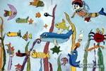海底漫游儿童画2幅