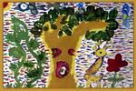 树和动物儿童画