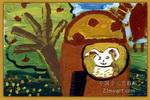 小兔的家儿童画2幅