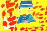 摘草莓儿童画作品欣赏