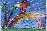 小鹿的早餐儿童画作品欣赏