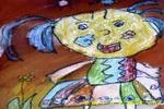 我的花裙子儿童水粉画
