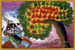 奶奶家的果树儿童画