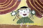 我来跳个新疆舞儿童画