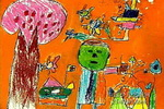 摇控飞机儿童画作品欣赏