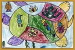 同乐儿童水粉画