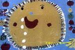 馋嘴的太阳儿童画
