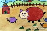 猪家族儿童画