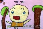 我是小巨人儿童水粉画