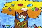 我会爬树了儿童画