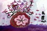 花粉红儿童画图片