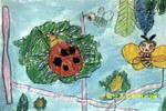 勤劳的昆虫儿童画