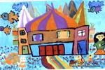 我梦中的家儿童画作品欣赏