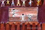 跆拳比赛儿童画图片