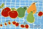 大苹果和大鸭梨儿童画作品欣赏