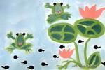 青蛙畅想曲儿童画作品欣赏