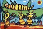 虫虫大餐儿童画