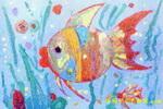 美丽的神仙鱼儿童画