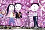照婚纱相儿童画作品欣赏