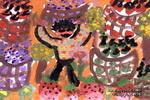 果子丰收儿童水粉画