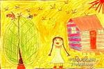 晴朗的日子里儿童画