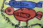 小鸟之爱儿童画