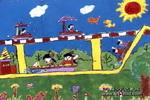 飞啊飞儿童画图片