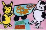想吃鱼的猫儿童画作品欣赏