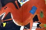 会飞的恐龙儿童画作品欣赏