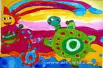 快来看彩虹儿童画