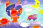地球哭了儿童画作品欣赏