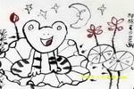 月光下的青蛙儿童画