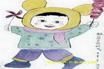 糖葫芦真好吃儿童水墨画