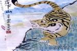 猛虎下山儿童画作品欣赏