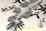 芭蕉小鸟儿童画