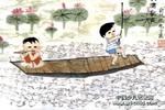 荷唐歌声儿童画作品欣赏