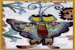 花蝴蝶儿童水墨画