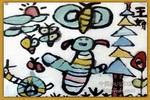 昆虫世界儿童水墨画