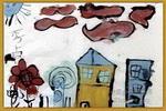 漂亮的房子儿童画2幅