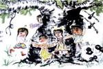 游戏儿童画3幅