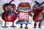 健康小使者儿童画图片