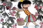 摘山楂儿童画作品欣赏