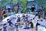 大家来植树儿童画作品欣赏