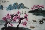 湖光春色儿童画