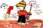 喜庆联欢儿童画图片