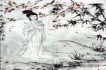 黛玉葬花儿童水墨画