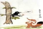 乌鸦上当了儿童画作品欣赏