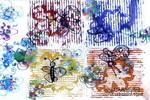 蝴蝶与花儿童版画