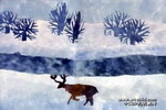 冬天里的童话儿童画作品欣赏